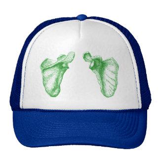 Verde del omóplato gorra