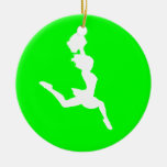Verde del ornamento w/Name de la silueta de la ale Ornatos