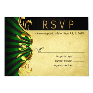 Verde del oro de Nouveau Vegas RSVP el | del arte Comunicado Personal