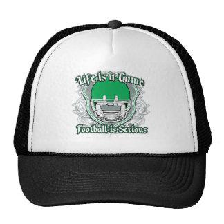 Verde del partido de fútbol gorro