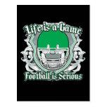 Verde del partido de fútbol tarjetas postales