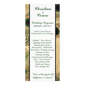 verde del pavo real del vintage del programa del b tarjeta publicitaria personalizada