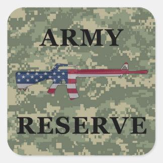 Verde del pegatina de la reserva del ejército M16