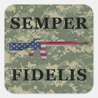 Verde del pegatina de Semper Fidelis M16