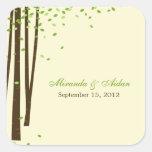 Verde del pegatina del favor de los árboles