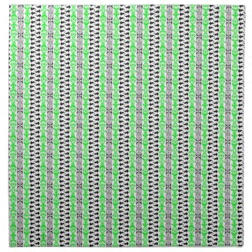 Verde del personalizado 1 de Fleur Servilletas