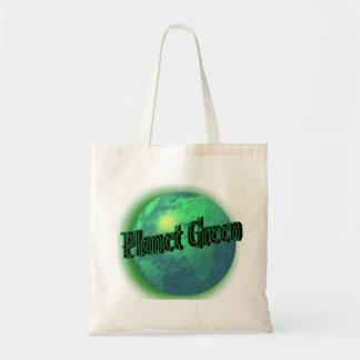 Verde del planeta bolsa tela barata