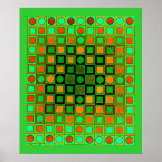 Verde del poster del arte de Op. Sys.