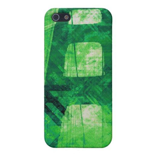 Verde del puente de la tormenta de Digitaces iPhone 5 Funda