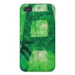 Verde del puente de la tormenta de Digitaces iPhone 4/4S Fundas