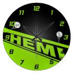 Verde del reloj del diseño de Hemi del vintage 426