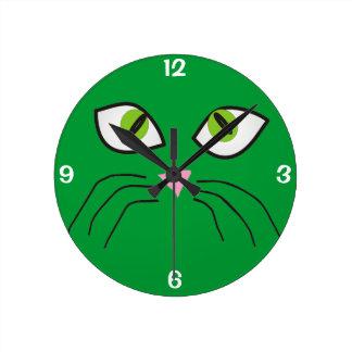 Verde del reloj IV de la cara del gato de los aman