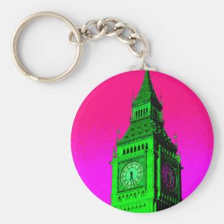 Verde del rosa del viaje de Big Ben Londres del Llavero Redondo Tipo Pin