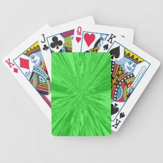 Verde del satén baraja cartas de poker
