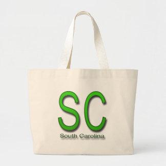 Verde del SC Carolina del Sur Bolsa Lienzo