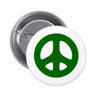 Verde del signo de la paz pins