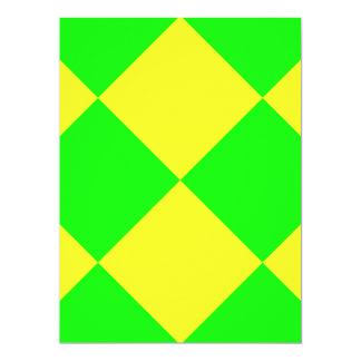 """¡VERDE DEL TABLERO DE DAMAS! ~ INVITACIÓN 6.5"""" X 8.75"""""""