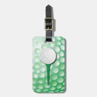 Verde del tee de golf el | etiquetas para maletas