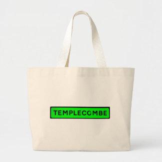 verde del templecombe bolsa tela grande