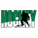 verde del texto del hockey escultura fotografica