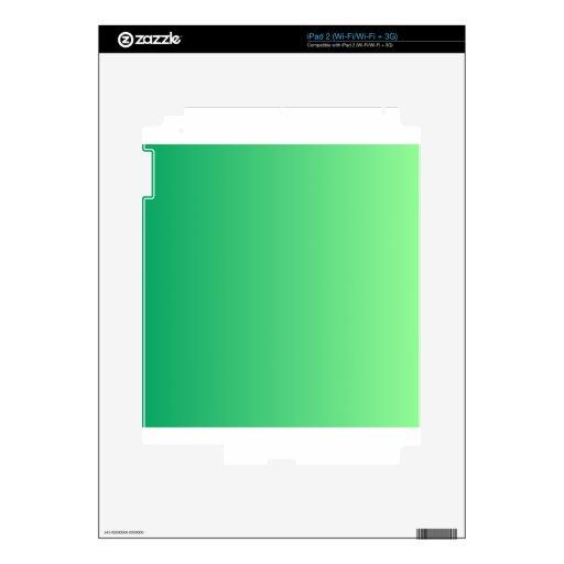 Verde del trébol a la pendiente de la vertical de  iPad 2 skin