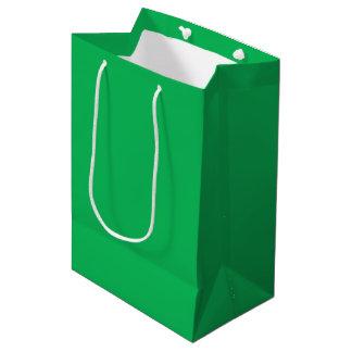 Verde del trébol bolsa de regalo mediana