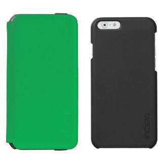 Verde del trébol funda billetera para iPhone 6 watson