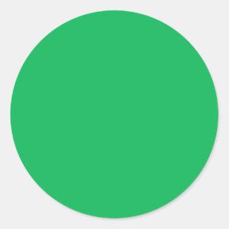 Verde del trébol pegatina redonda