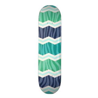 Verde del trullo, aguamarina, y rayas azules de Ch Patín