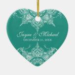 Verde del trullo del navidad del remolino del dama adorno de navidad