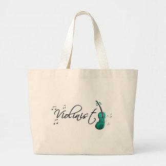 Verde del trullo del violinista bolsa tela grande