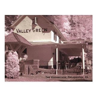 Verde del valle tarjeta postal