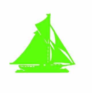 Verde del velero del ornamento del navidad escultura fotografica