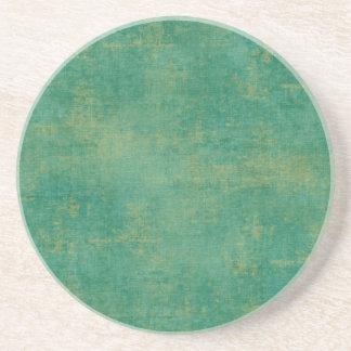 Verde del vintage posavasos personalizados