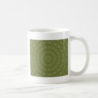 Verde del vintage taza básica blanca