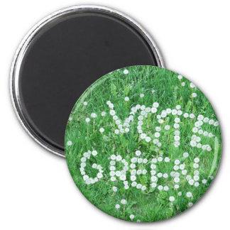Verde del voto imán redondo 5 cm