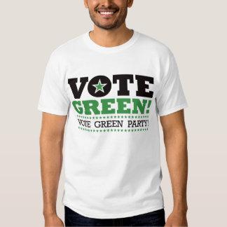 ¡Verde del voto! ¡Partido Verde del voto! Playeras