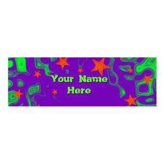 Verde delantero hechizado de la tarjeta de visita