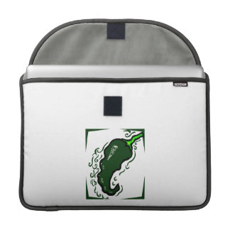 Verde dentado frame.png de la pimienta verde fundas para macbooks