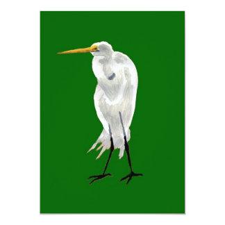 """Verde derecho del Egret Invitación 5"""" X 7"""""""