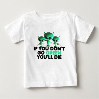 Verde divertido playera de bebé