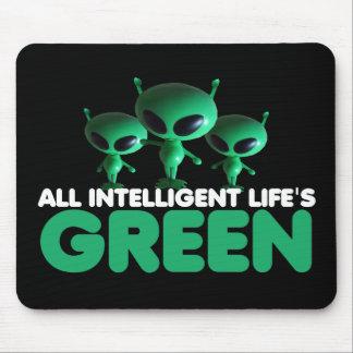 Verde divertido tapetes de raton