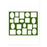 Verde DK del paisaje del marco el MUSEO Zazzle Postal