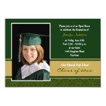 Verde e invitación de la fiesta de graduación del invitación 12,7 x 17,8 cm