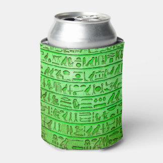 Verde egipcio antiguo de los jeroglíficos enfriador de latas