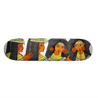 Verde egipcio de las mujeres de la moda del vintag patines