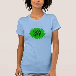 Verde el 10 por ciento apagado camisas
