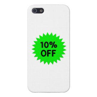 Verde el 10 por ciento apagado iPhone 5 carcasa