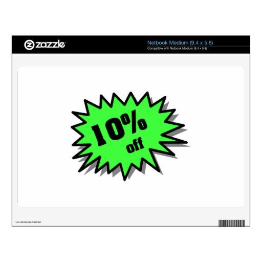 Verde el 10 por ciento apagado netbook skin