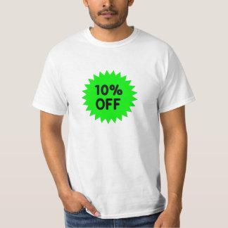 Verde el 10 por ciento apagado playeras